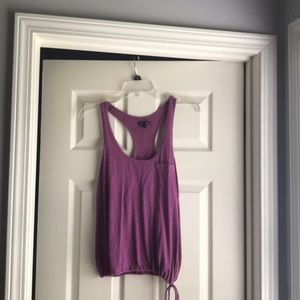 Purple Gathered Waist Tank